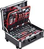 Meister Werkzeugtrolley 156-teilig - Werkzeug-Set - Mit Rollen -...