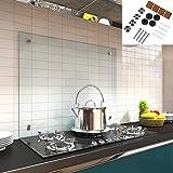 Melko Spritzschutz Herdblende aus Glas, für Küche, Herd, Fliesen, 6...