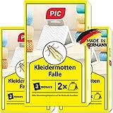 PIC Kleider-mottenfalle – Dreierpack = 6 Stück – Mittel für...