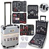 hanSe® Werkzeugkoffer Maxi 1050-teilig Werkzeug Trolley gefüllt...