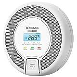 X-Sense CO Melder mit Digitalanzeige, Kohlenmonoxidmelder, akkurater...