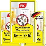 PIC Lebensmittel-Mottenfalle - Dreierpack = 6 Stück - Zum Fangen von...